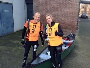 Foto 7 - Als laatsten in de kano